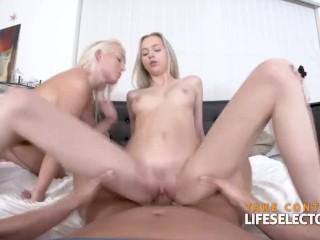 De to blonde tenårene og den enorme kuk