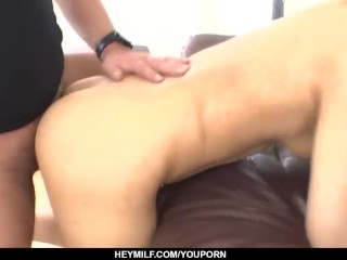Saki Umita bends for cock during casting and gets anal fucked – More at Japanesemamas.com