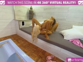 VRBangers.com Hot Blonde MILF Bridgette B Get's Her Pussy Massaged by Sexy Ebony