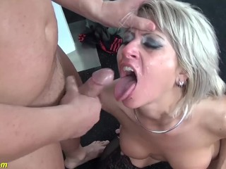 rough deepthroat in all her holes