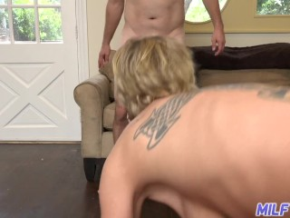 MILF Trip – Ridiculously horny MILF takes facial after getting fucked – Part 1
