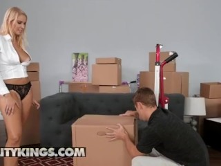 Reality Kings – Mother and step daughter team need help with their boxes
