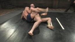 Muscle guys wrestling - winner...