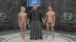 Girls wrestling naked - loser...