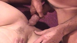 Blonde puts rod into...