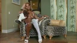 Ebony goddess strips and...