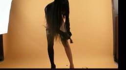 Black girl in black...
