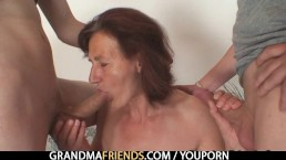 Two horny buddies fuck...