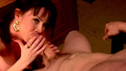 Horny big-tit brunette...