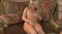 Natural blonde teen rubs...