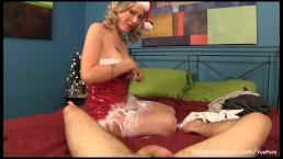 Horny Holiday stepmom seduces...