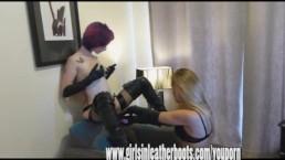 Lesbian mistress finds slave...