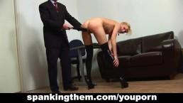 Spanked by cruel boss...