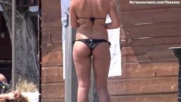Sexy Topless Beach Teen...