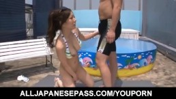 Ayami sucks penis and...