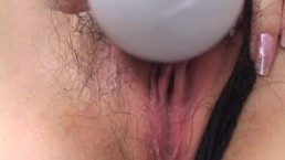 Tomoe Hinatsu enjoys vibrator...