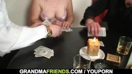 Poker leads to 3some...