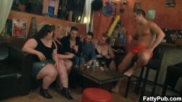Big tits group striping...
