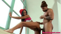 Ebony Isabella Chrystin pumped...