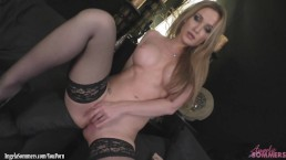 Angela Sommers strips playing...