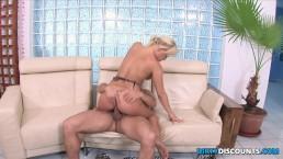 Busty babe drips spunk...