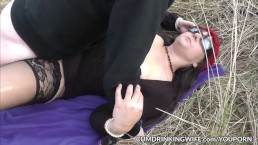 Dogging slutwife Marion gangbanged...