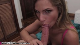 Teen Sydney Cole Deepthroating...