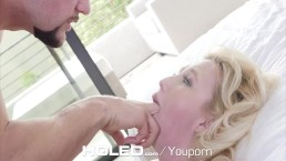 HOLED Samantha Rone loosens...