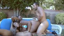 BBW Skyy Black Threesome...