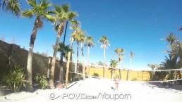 POVD Backyard badminton massage...