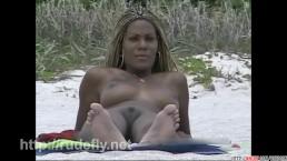 Splendid nude beach voyeur...