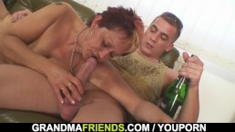 Interracial threesome sex with...