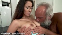 Grandpa Greets Teen Lover...