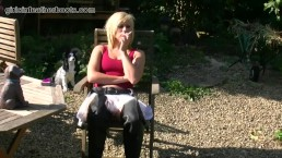 Naughty blonde AxaJay lets...