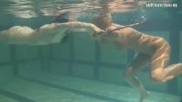 Bad quality underwater lesbian...