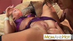 Naughty mom loves anal...