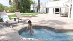 PornPros Pool interrupted fuck...