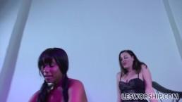 Busty ebony lesbian Jenna...
