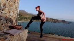 Mature British redhead masturbating...