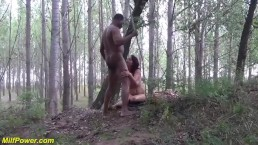 Milf outdoor interracial big...