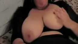 Busty BBW masturbates and...