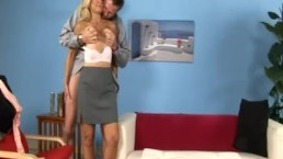 Mature blonde cheats with...