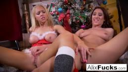 Christmas lesbian romp between...