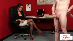 CFNM office voyeur enjoys...