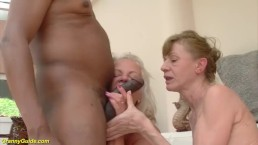 Interracial anal granny orgy...