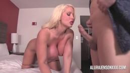 Big tit blonde Alura...