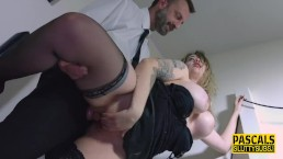 Busty sub pussy banged...
