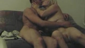 russian couple having sex in the living room (part