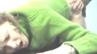 green sweater butt fuck
