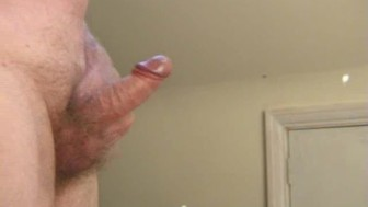Spurty cumshot with build-up from soft